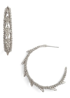 Alexis Bittar Crystal Encrusted Hook Earrings