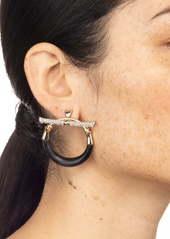 Alexis Bittar Crystal Encrusted Hoop Earrings