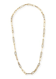Alexis Bittar Crystal-Encrusted Link Necklace