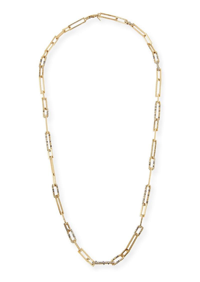 Alexis Bittar Crystal-Encrusted Link Necklace