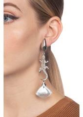 Alexis Bittar Crystal Encrusted Lizard Clip Earrings
