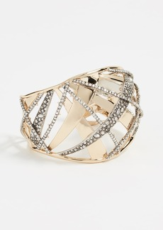 Alexis Bittar Crystal Encrusted Medium Plaid Cuff