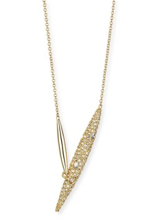 Alexis Bittar Crystal-Encrusted Modernist Spear Necklace