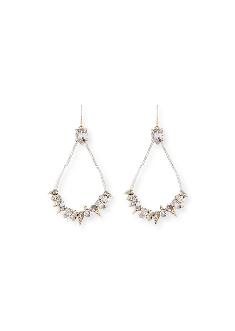 Alexis Bittar Crystal-Encrusted Mosaic Futuristic Earrings