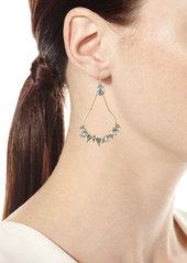 Alexis Bittar Crystal-Encrusted Mosaic Futuristic Teardrop Earrings
