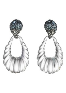 Alexis Bittar Crystal Encrusted Ombré Paisley Earrings