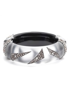 Alexis Bittar Crystal Encrusted Origami Inlay Lucite® Bangle