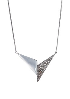 Alexis Bittar Crystal Encrusted Origami Lucite® Pendant Necklace