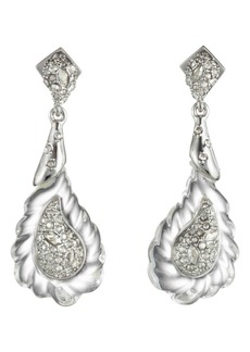 Alexis Bittar Crystal Encrusted Paisley Earrings