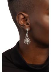 Alexis Bittar Crystal Encrusted Paisley Earrings