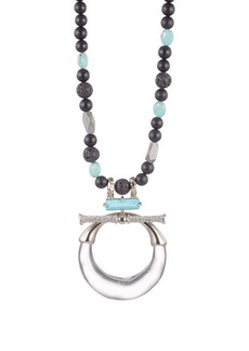 Alexis Bittar Crystal Encrusted Pierced Pendant Necklace