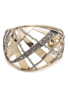 Alexis Bittar Crystal Encrusted Plaid Bracelet