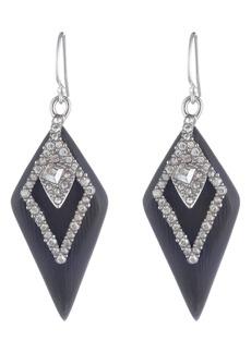 Alexis Bittar Crystal Encrusted Spade Drop Earrings