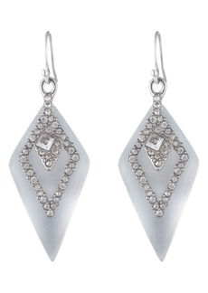 Alexis Bittar Crystal Encrusted Spade Drop Earrings