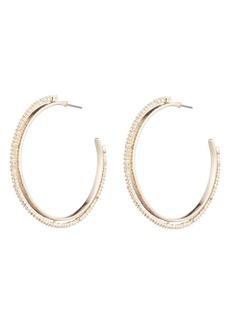 Alexis Bittar Crystal Encrusted Spike Hoop Earrings