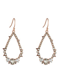 Alexis Bittar Crystal Encrusted Spiked Teardrop Earrings
