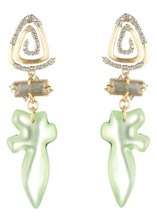 Alexis Bittar Crystal Encrusted Spiral Post Earrings