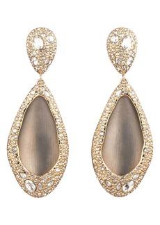 Alexis Bittar Crystal Encrusted Teardrop Clip Earrings
