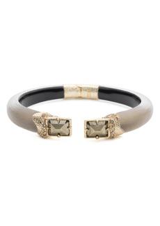 Alexis Bittar Crystal Gray Lucite Hinge Bracelet