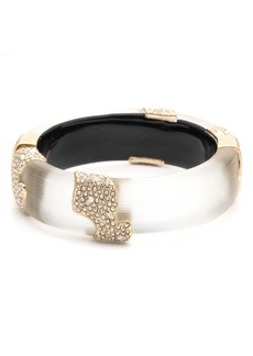 Alexis Bittar Crystal Hinged Bangle