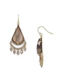 Alexis Bittar Crystal Lace Chandelier Earrings