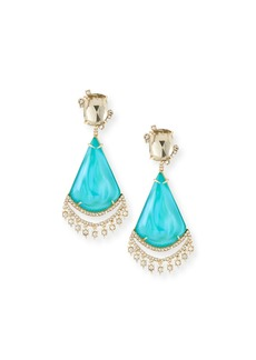 Alexis Bittar Crystal Lace Liquid Chandelier Earrings