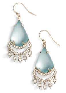 Alexis Bittar Crystal Lace Lucite® Chandelier Earrings