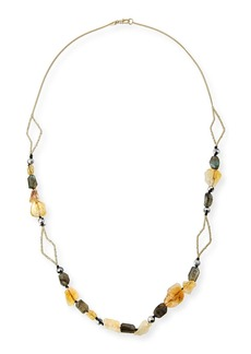 Alexis Bittar Crystal Layering Necklace