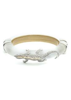 Alexis Bittar Crystal Lizard Hinge Bracelet