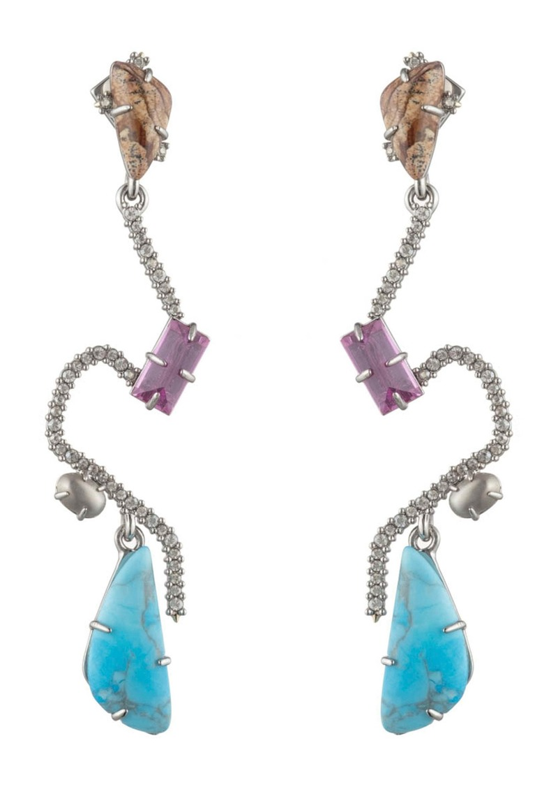 Alexis Bittar Crystal Maze Drop Earrings