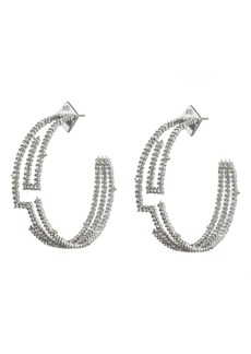 Alexis Bittar Crystal Maze Hoop Earrings