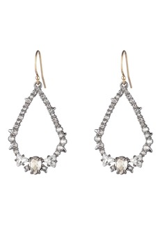 Alexis Bittar Crystal Open Teardrop Earrings