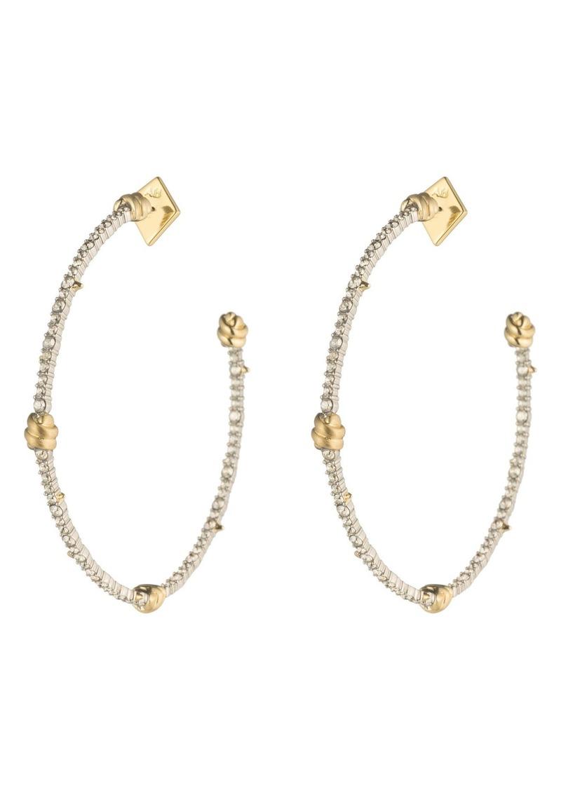 Alexis Bittar Crystal Pavé Knotted Hoop Earrings