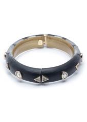 Alexis Bittar Crystal Pear Studded Lucite® Hinge Bracelet