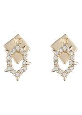 Alexis Bittar Crystal Spike Teardrop Earrings