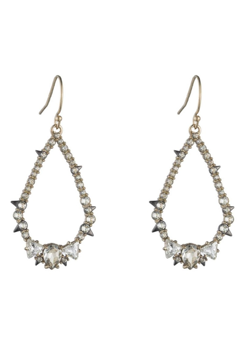 Alexis Bittar Crystal Spike Teardrop Earrings
