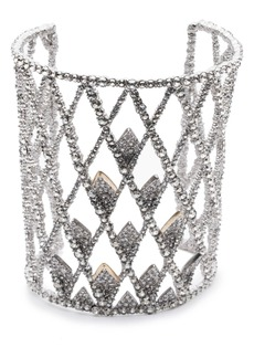 Alexis Bittar Crystal Spiked Lattice Cuff