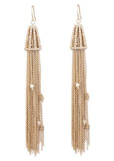 Alexis Bittar Crystal Tassel Drop Earrings