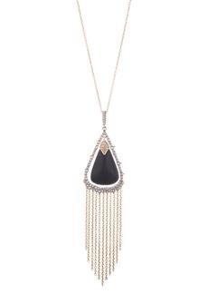 Alexis Bittar Crystal Tassel Pendant Necklace