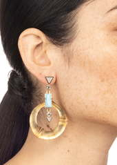 Alexis Bittar Dangling Bamboo Drop Earrings