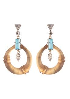 Alexis Bittar Dangling Bamboo Drop Earrings
