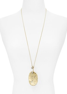 """Alexis Bittar Distressed Disk Pendant Necklace, 31"""" - 100% Exclusive"""