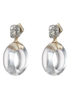 Alexis Bittar Domed Drop Circle Post Earrings