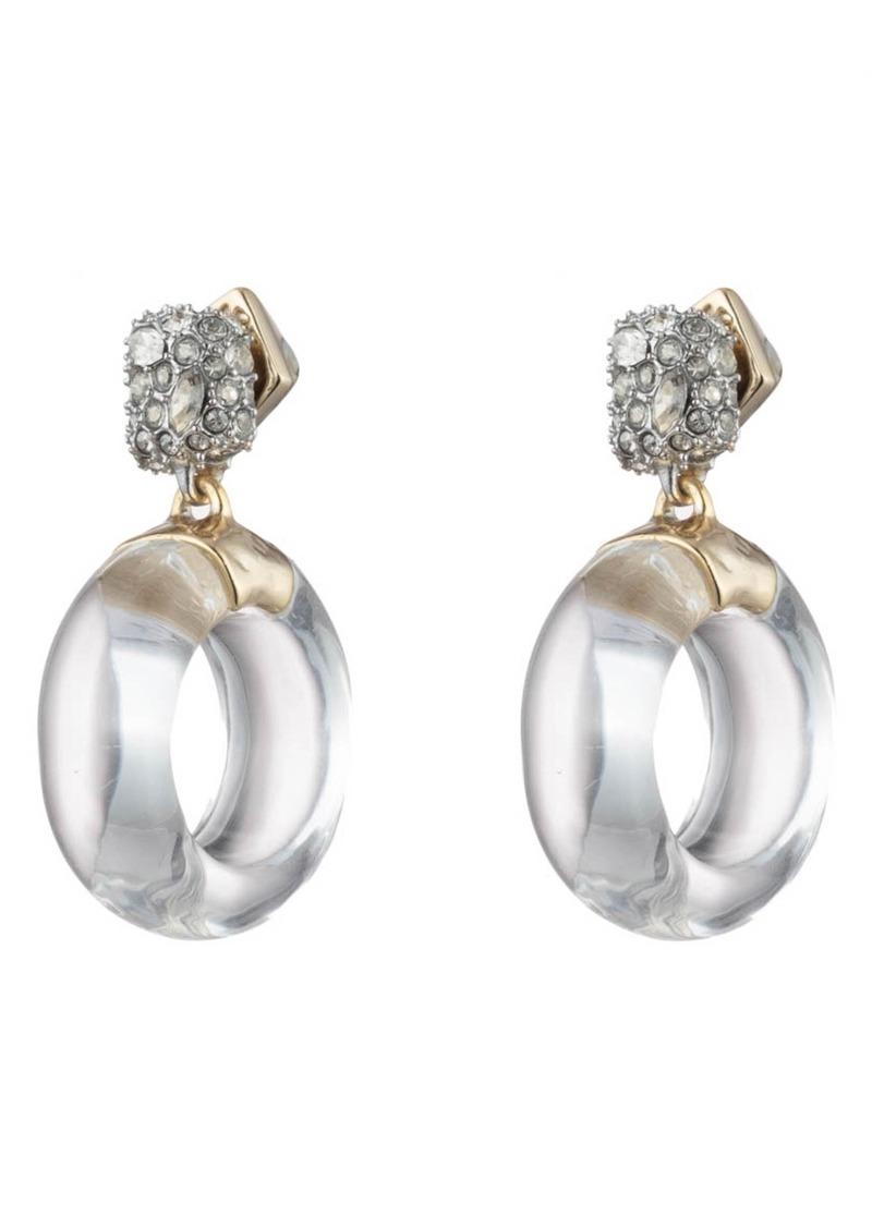 Alexis Bittar Domed Drop Circle Post Earrings