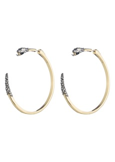 Alexis Bittar Elements Snake Hoop Earrings