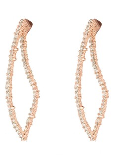 Alexis Bittar Essentials Crystal Encrusted Abstract Thorn Drop Earrings