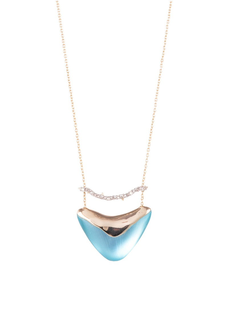 Alexis Bittar Essentials Crystal Encrusted Bar & Shield Pendant Necklace