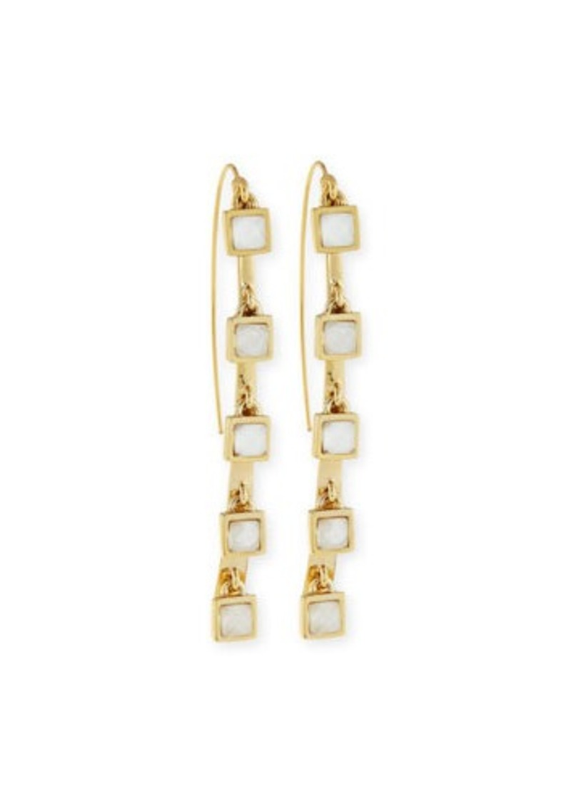Alexis Bittar Five-Stone Crystal Charm Dangle Earrings