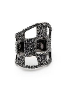 Alexis Bittar Floral Noir Pavé Checkerboard Ring