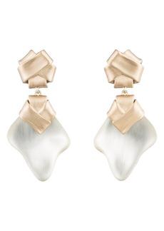 Alexis Bittar Folded Knot Clip Drop Earrings